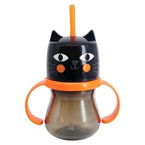 halloween cat sippy cup