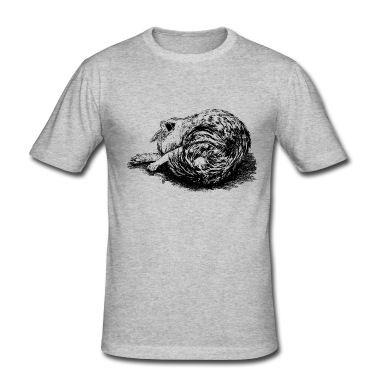 schlafende Katze, schlafende Katze. T-Shirt |