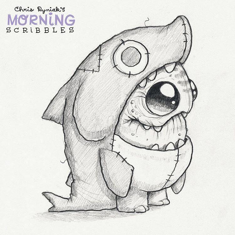 Shark Suit Morningscribbles Cute Monsters Drawings