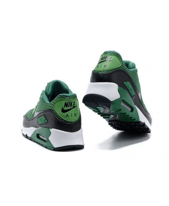 Nike Mens Shoes Nike Air Max 90 Premium EM Lucky GreenBlack