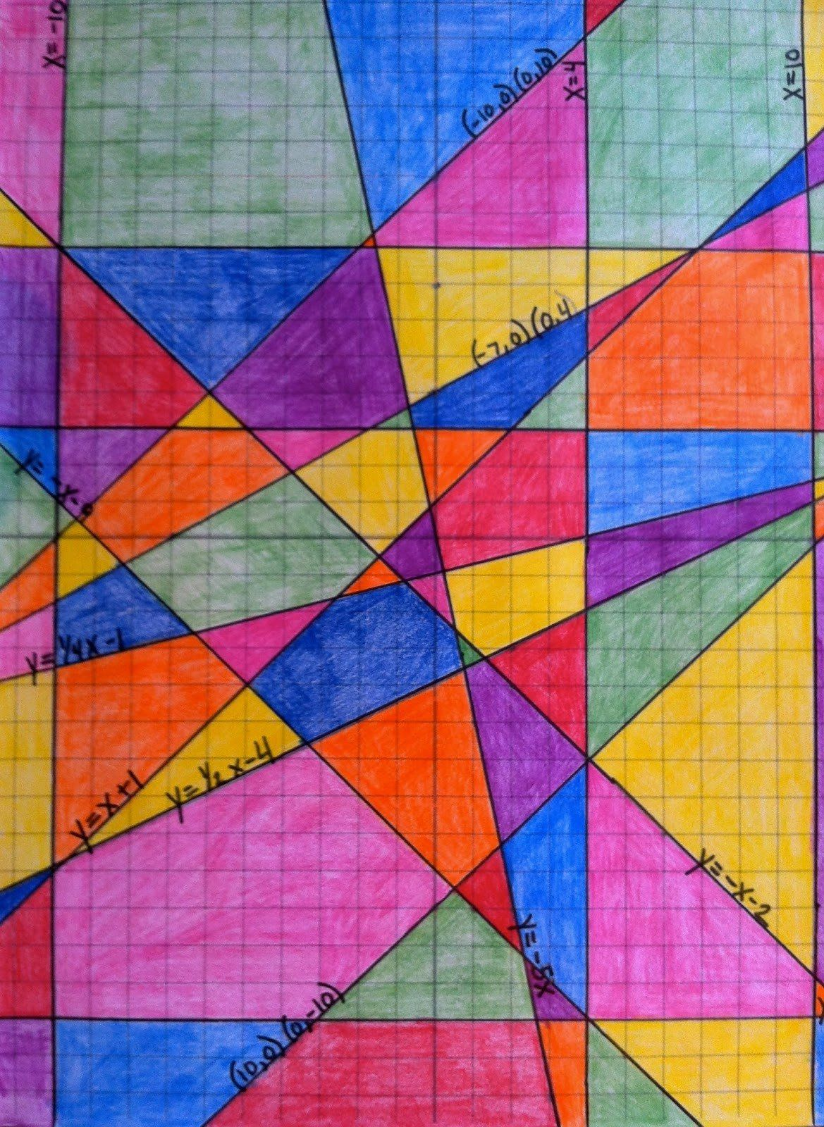 Stained Glass Window Linear Equations Worksheet Answers