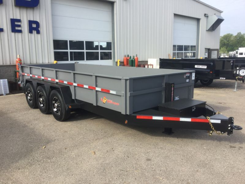 Need Industry Leading Quality Higher Volume Capacity And A Higher Payload The Bwise Dlp18 21 Tri Axle Dump I Utility Trailer Dump Trailers Deck Over Trailer