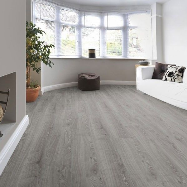 Timeless oak grey kronotex robusto laminate flooring 12mm - Carpet or laminate in living room ...