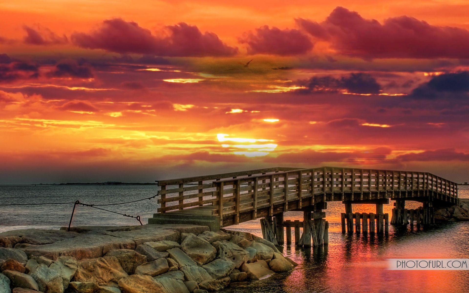 beautiful bridge at dusk | scenery | pinterest | mountain sunset