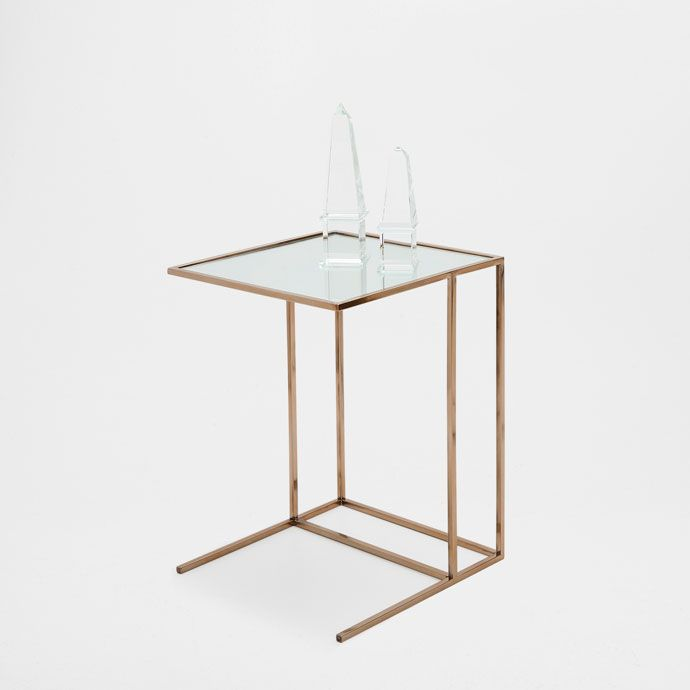 Zara Sofa Table: SMALL GILT SERVICE TABLE - Occasional Furniture