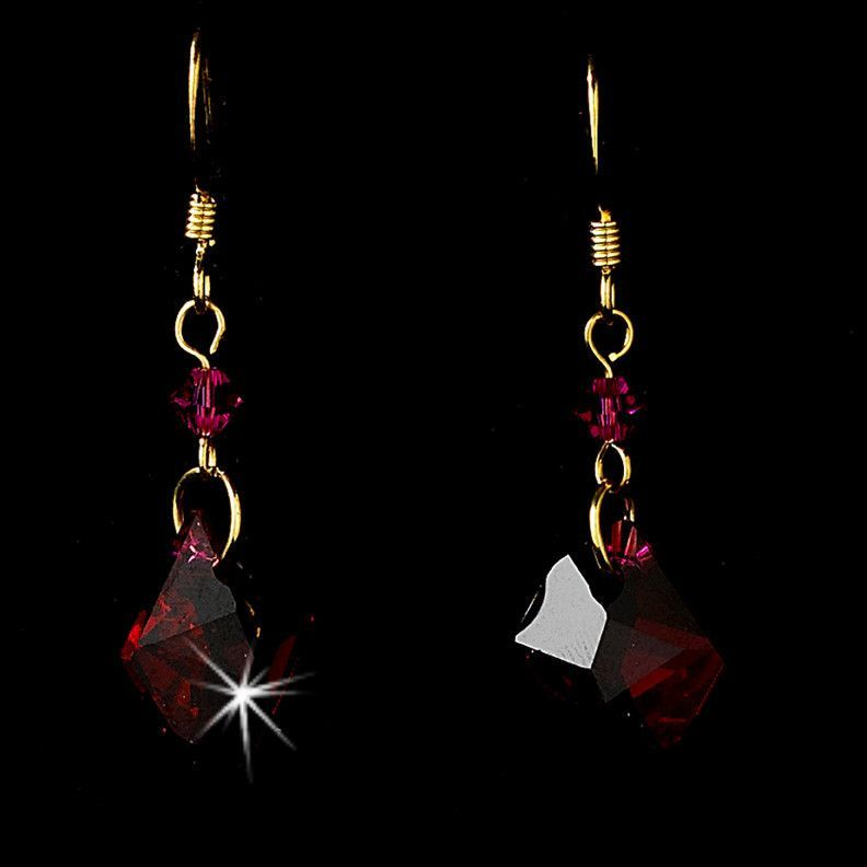 * Earring 8124 Gold Red