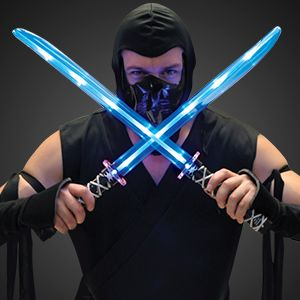 Cool LED Light Up Ninja Swords with Sound Effects. FREE SHIPPING COUPON at this link FYI! Stock up on Halloween Light Ups, take advantage of this coupon from 10/11/13 to 10/13/13, expires Sunday night @ 11:59 PM. ;)