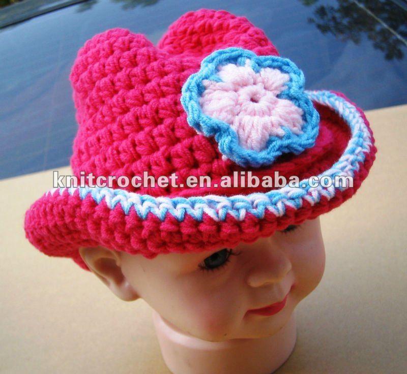 Free Quick Crochet Hat Patterns | ... Handmade Crochet Cowgirl Hat, Crochet Cowboy Hat Beanie (KCC-TMOO186