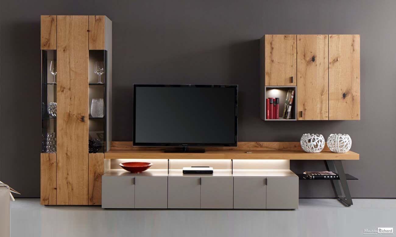 Meuble tv bois laque tendance meubles - Meuble tv a composer modulable ...