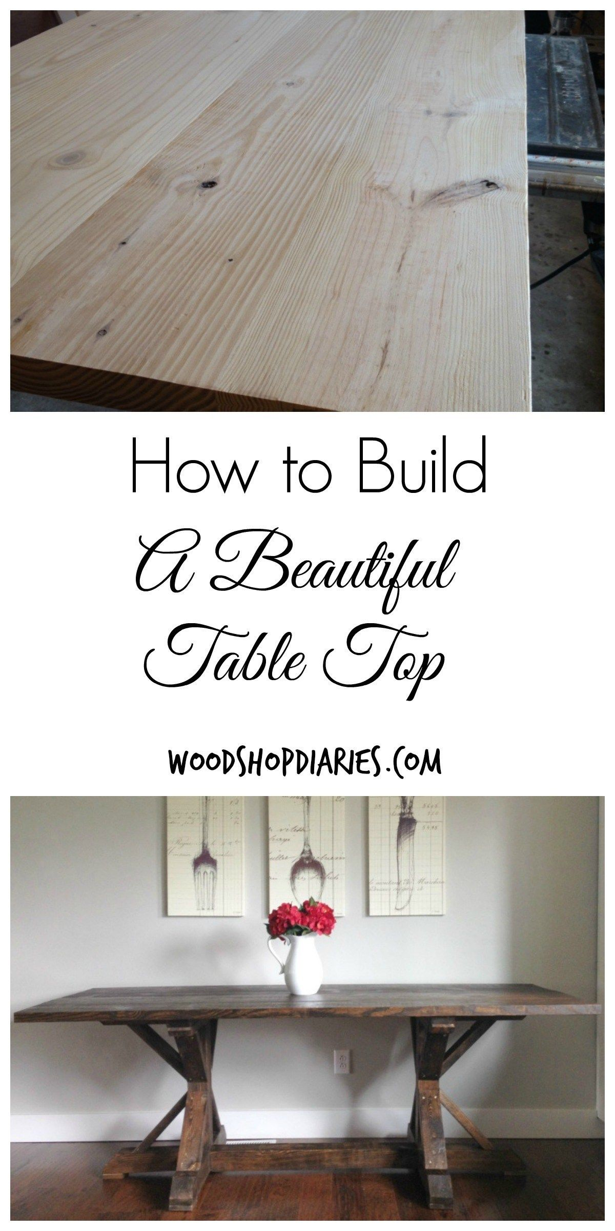 How To Build A Simple Diy Wooden Table Top The Simple Way Diy