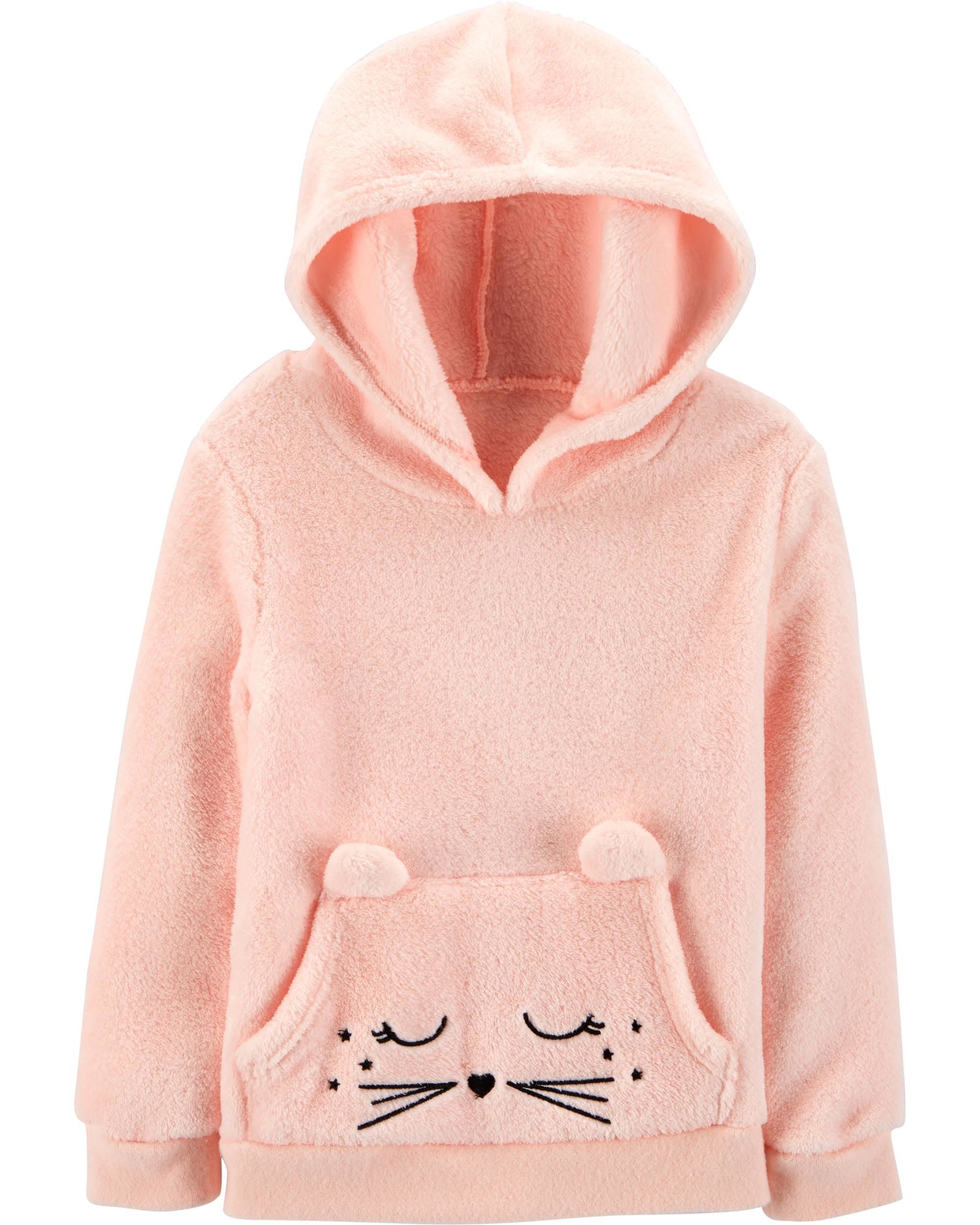 Youth//Kid Hooded Mermaid Cat Sweatshirt Fleece Pullover Hood