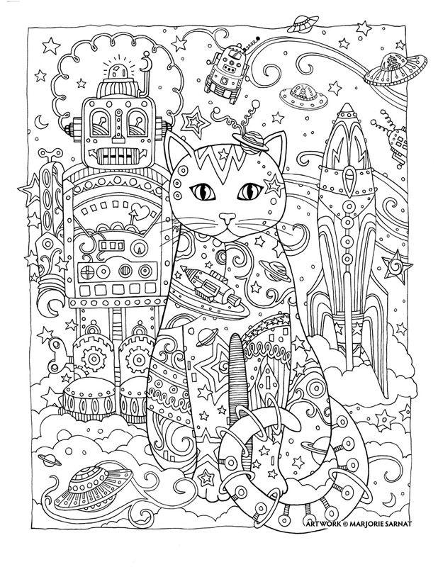 Creative Haven Creative Cats By Marjorie Sarnat Space Wonder