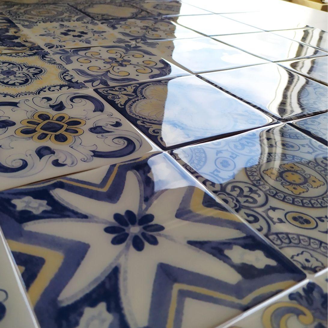 Azulejo Adhesivo Para Cocina Resistente Y Brillante Vinilos Para Azulejos Baldosas Decoracion De Escaleras Interiores