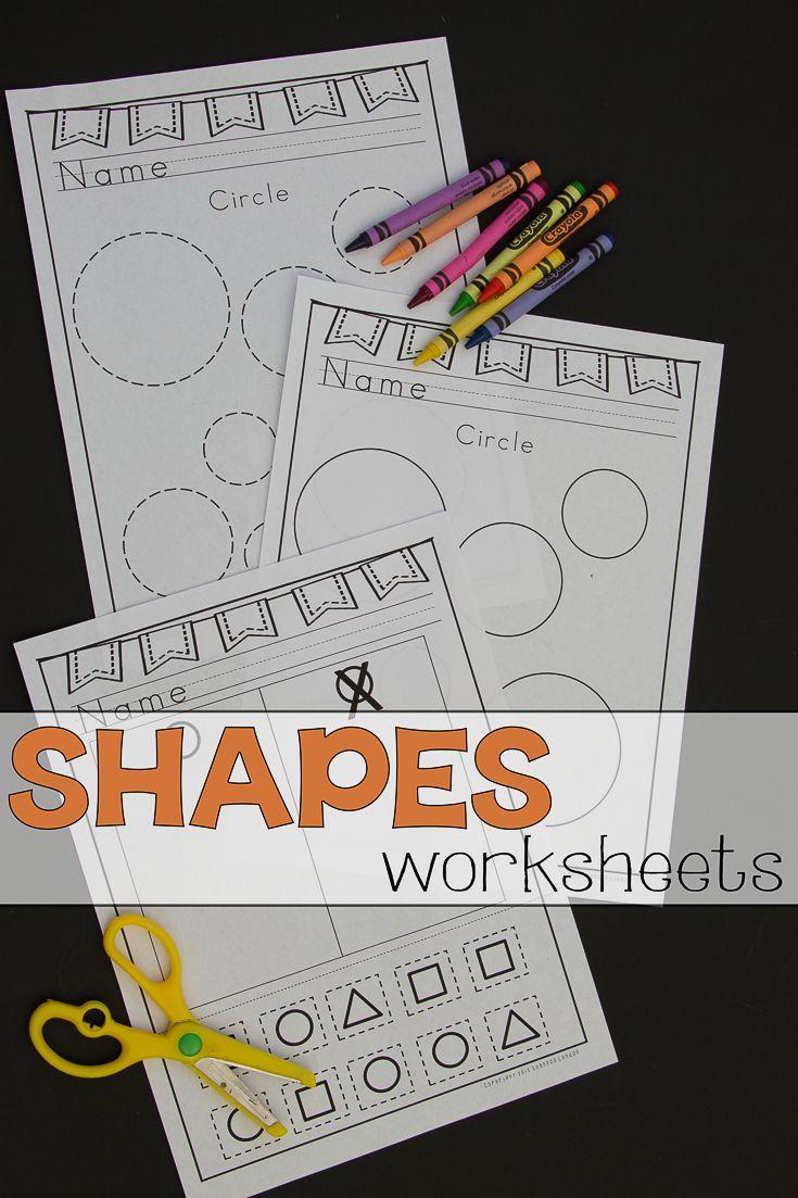 Shapes practice worksheets shapes worksheets worksheets and