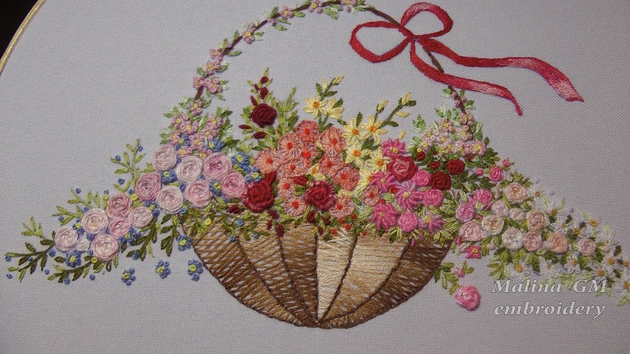 Simple hand embroidery designs for tablecloth -  Hand Embroidery Flower Stitch Roses