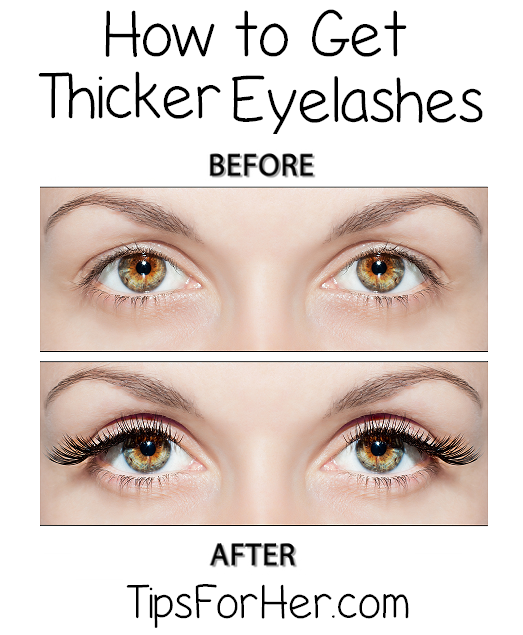 Thicker Eyelashes Trick