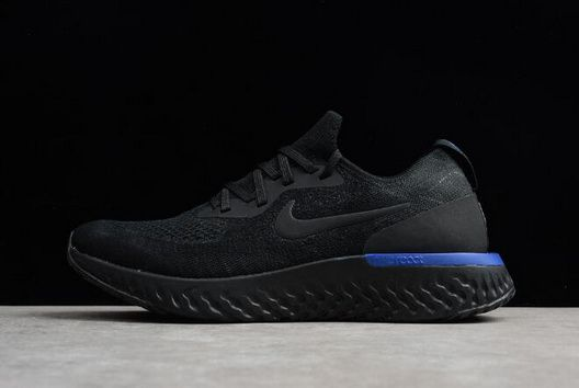 new styles 32fca 5e0c1 Discount Nike Epic React Flyknit Black Racer Blue Mens and Womens sizing  Hot Sale