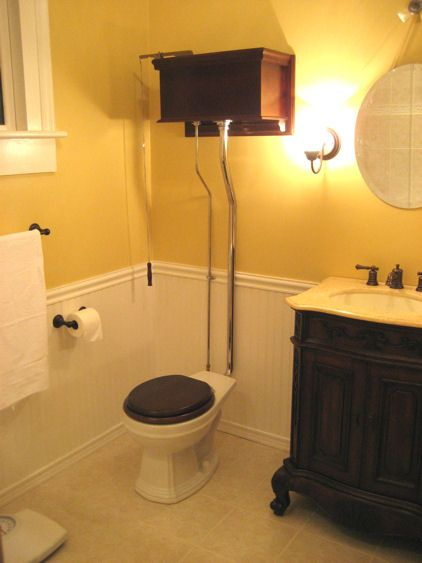High Tank Pull Chain Toilets Old Style High Tank Toilets  The High Tank Toilet Helps Carry The
