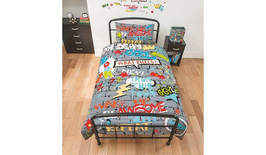 George Home Graffiti World Single Duvet Home Garden George At Asda Kids Bedroom Accessories Graffiti Bedroom Kids Bedding Sets
