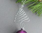 Christmas Tree Ornament Hangers - Wire Christmas Ornament Hooks - Handmade Christmas Tree Decoration Hanger