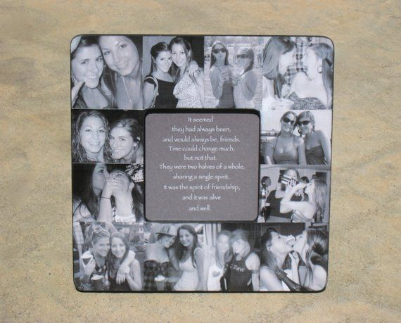Best Friends Photo Collage Frame Personalized Sister Gift