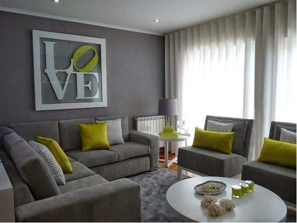 Belles Conceptions Des Salons Gris Et Vert Also Maison En Living Rh  Pinterest