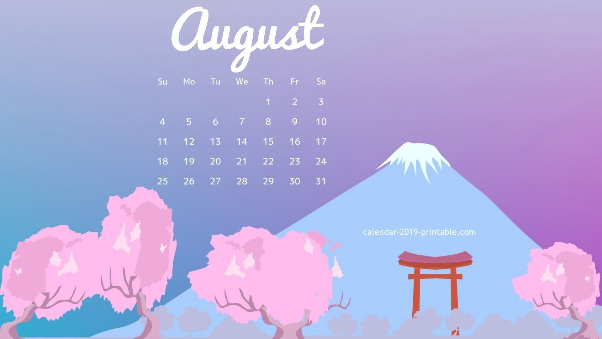 august 2019 calendar desktop wallpapers calendar 2019