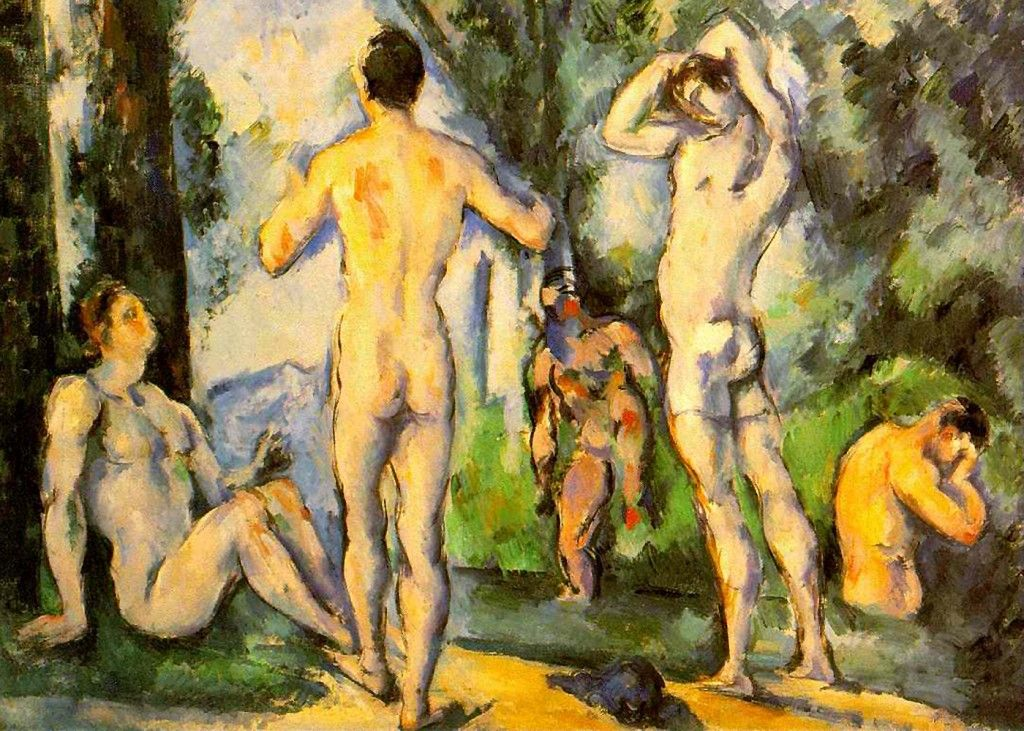 paul cezanne bathers in open air paul c atilde copy zanne was a french paintings