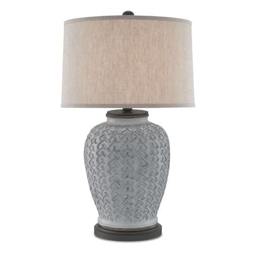 Currey and company dodington antique whitehiroshi gray table lamp currey and company dodington antique whitehiroshi gray table lamp with drum shade at destination aloadofball Images