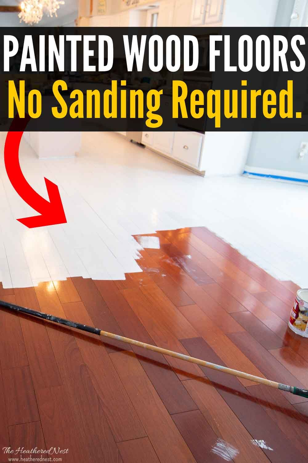How To Paint Wood Floors Without Sanding Painted