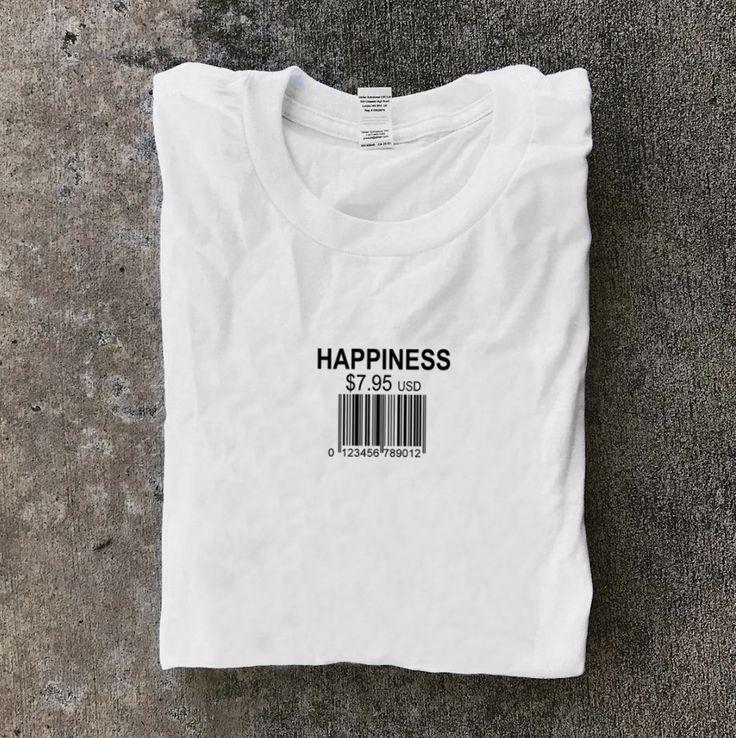 Happiness Long Sleeve Barcode T Shirt 2019 Mumka Tarz Moda Moda Ve Baski