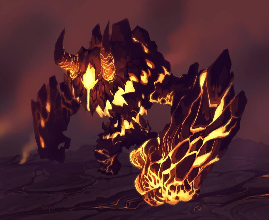 Magma Golem By Https Www Deviantart Com Thrantantra On Deviantart Monster Concept Art Creature Artwork Creature Concept Art