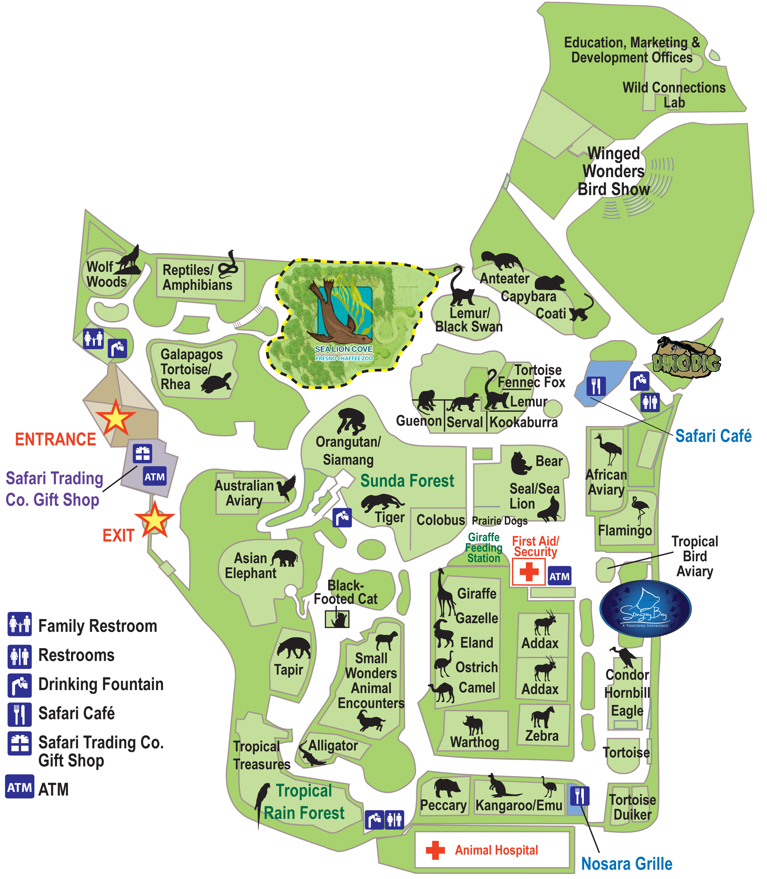 Fresno Chaffee Zoo Map Sea Lion Cove Elenas Birthday Pinterest