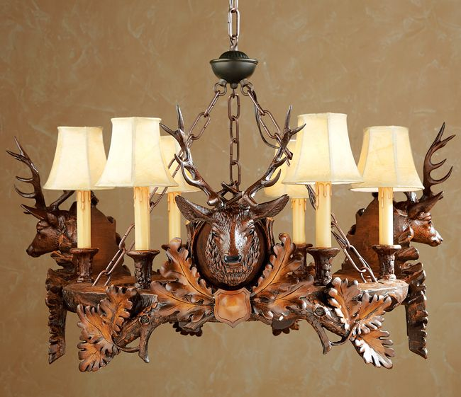 Black Forest Stag Chandelier Rustic Chandelier Cabin Lighting Black Forest Decor
