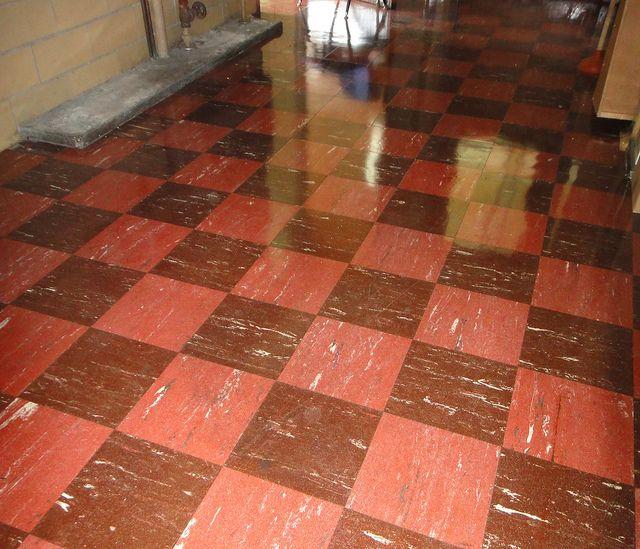 retro checker floor tile asbestos 9x9 school childhood and nostalgia. Black Bedroom Furniture Sets. Home Design Ideas
