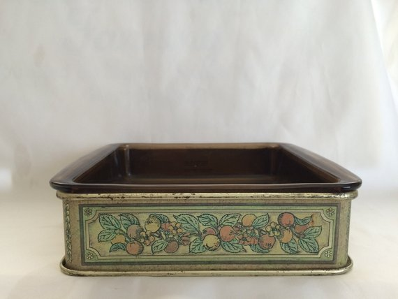 2 Pyrex Dishes With Decorative Metal Holder Pyrex Glass Baking