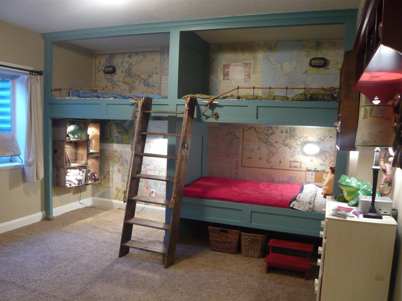 Loft bed boy room ideas  Coolest Bunk Beds Design Ideas  Coolest Bunk Beds Based With Map