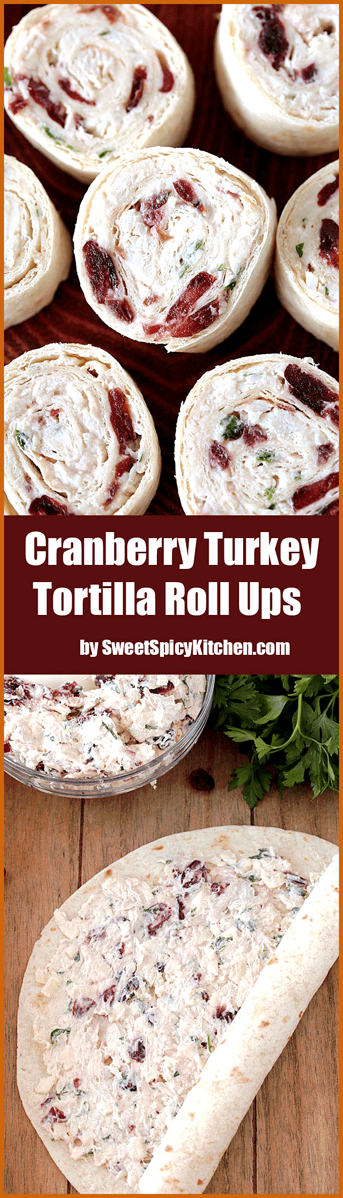 Cranberry Turkey Tortilla Roll Ups Cranberry Turkey Tortilla Roll Ups quick and easy bite size appetizer The Effective Pictures We Offer You About holiday appetierz savor...
