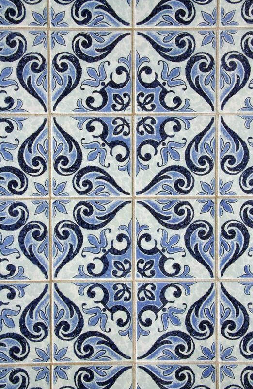 Blue Spanish Pattern Tile Wallpaper sold in x rolls; get the look of tile  at a fraction of the price with printed tile wallpaper. Faux Tile Wallpaper  that ...