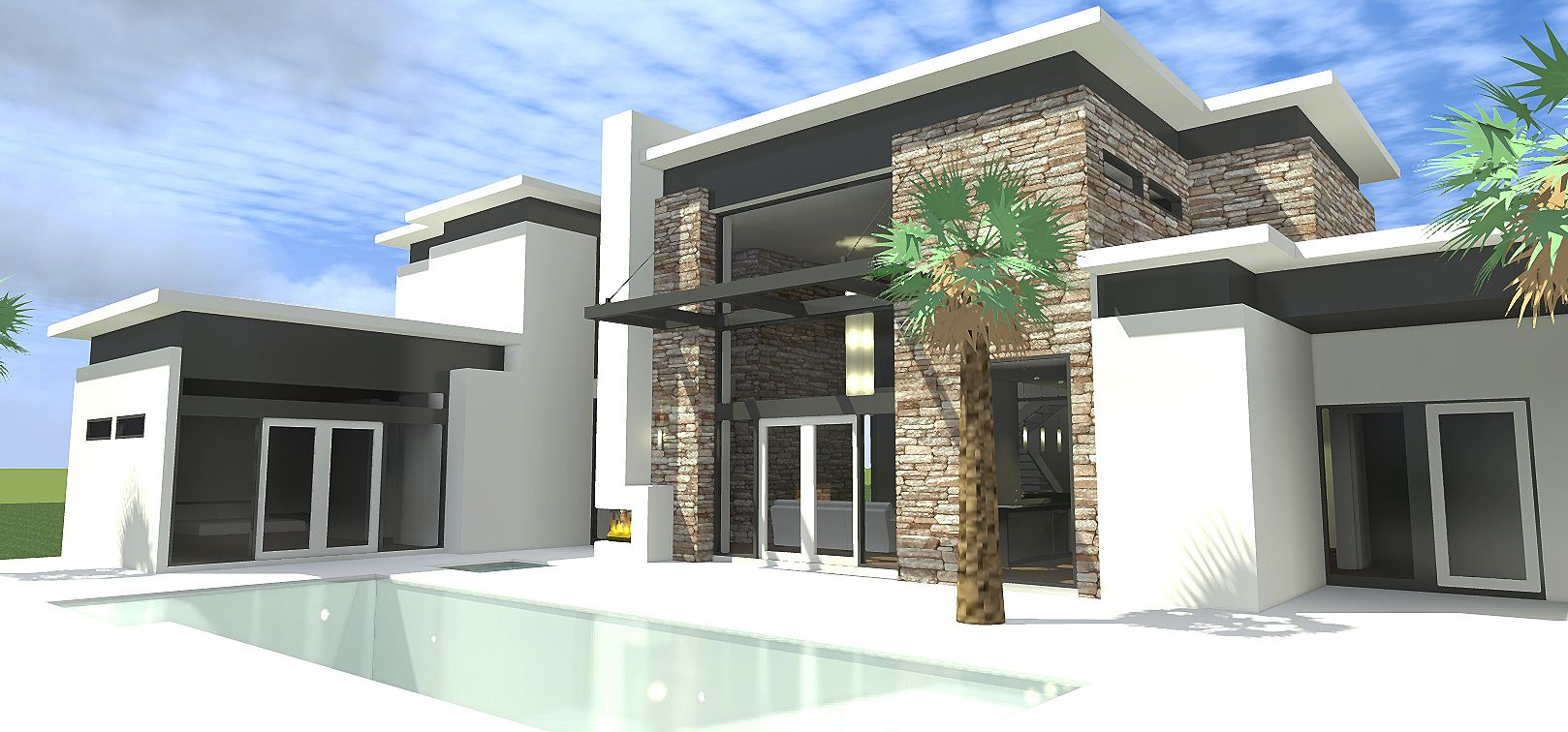 Plan 44115td contemporary home with jaw dropping living room