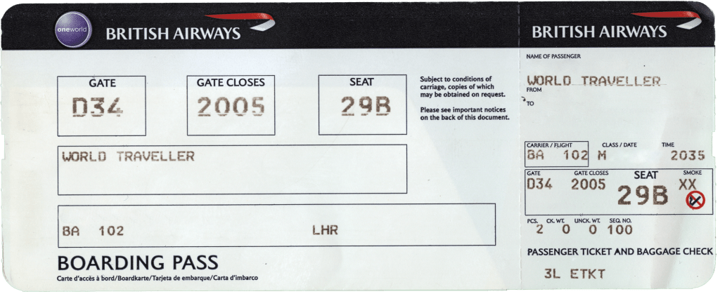 boarding pass template Inspiring British Airways Boarding