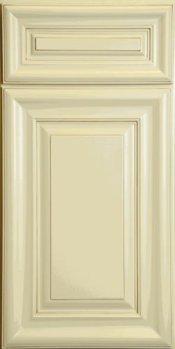 Creme Painted Finish W Mocha Highlight Full Overlay Door By Kitchen Cabinet Kings At Www K Cream Kitchen Cabinets Rta Kitchen Cabinets Online Kitchen Cabinets