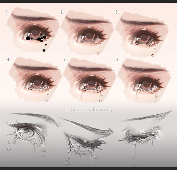 Drawing Tears By Kawacy On Deviantart Digital Art Tutorial Digital Painting Tutorials Eye Drawing
