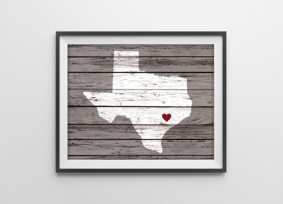 Personalized Wood Wall Art custom wood state art print - personalized rustic wall decor