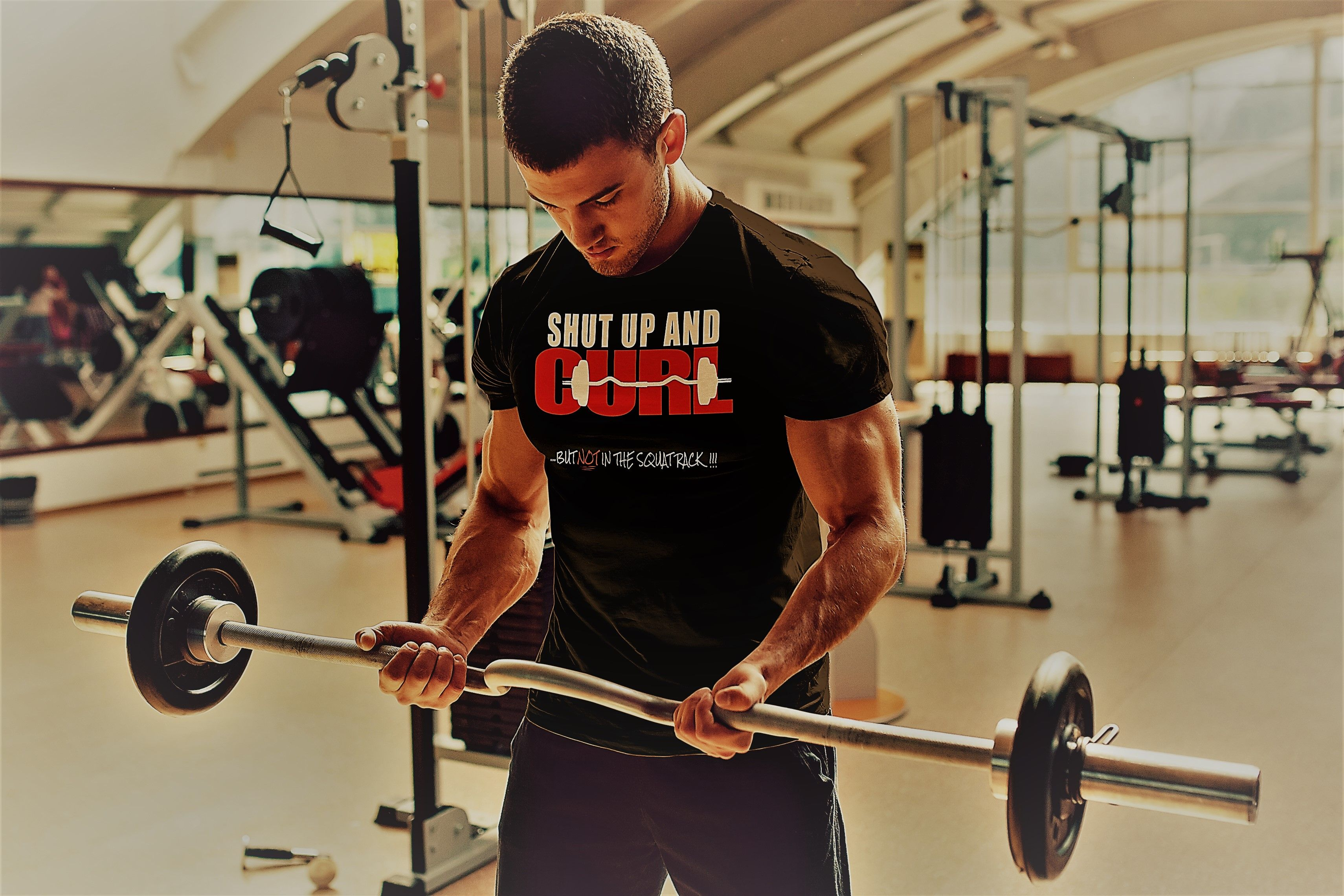 Shut Up /& Lift Mens Funny Gym Hoodie Training Top Bodybuilding Weightlifting