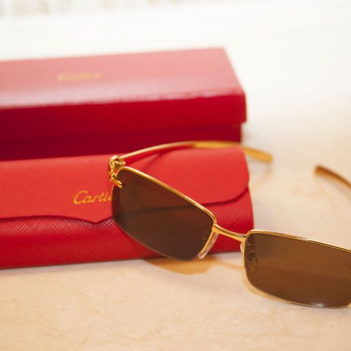 290c92651a Slim elongated elegant Cartier gives this Panthere sunglasses a true ...