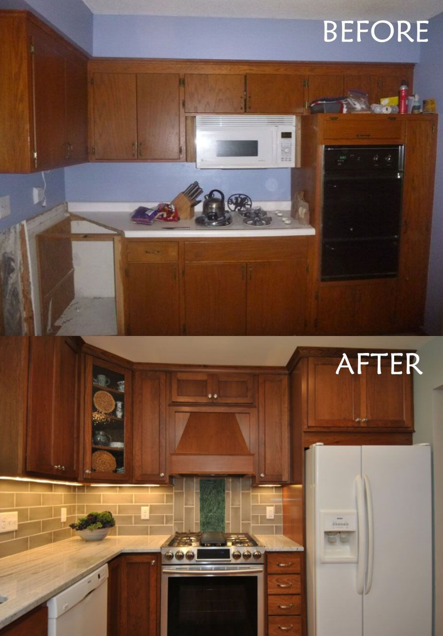 Cherry Kitchen Remodel Before And After Ohana Home Design Replacing Kitchen Countertops Kitchen Cabinet Remodel Kitchen Remodel Before And After