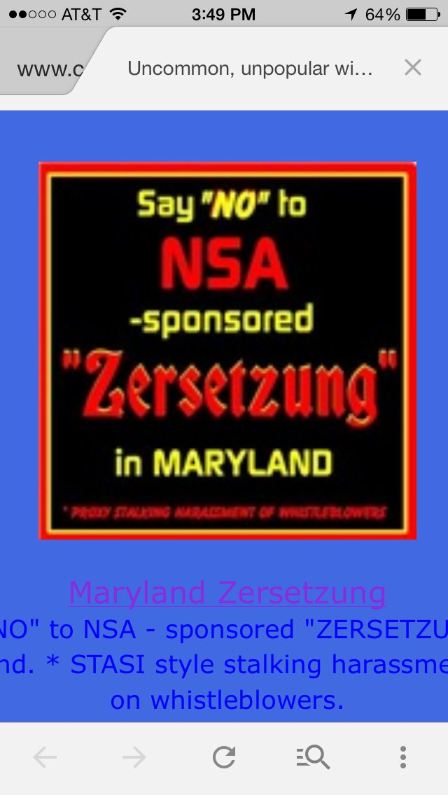 NSA, DOD, DOJ... Many evil Feds are running gang stalking efforts against patriots in and around DC.