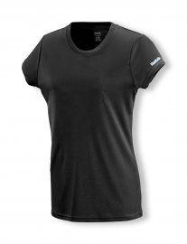 PLAYDRY™ technology, regular fit, short sleeve crew, reflective Reebok heat transfer logo treatment