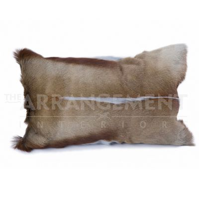 Springbok Large Pillow: Our Springbok Large Pillow is incredibly soft and adds natural beauty and texture to a room. The springbok is a small antelope found in southern Africa, and these pillows are made from farm raised springbok.